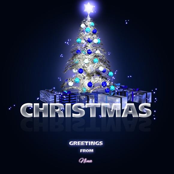 Blue Christmas by Flina