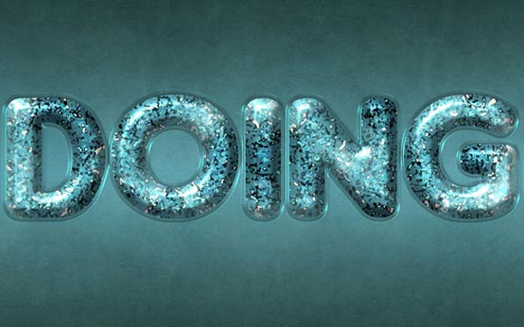 Glossy Particles-Textured Text Effect