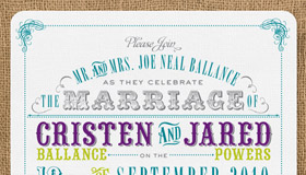 Cristen+Jared Wedding Invitations