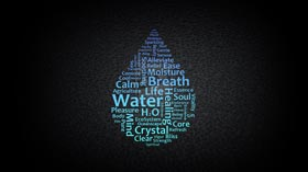Water Typography by BTHOT