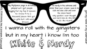 White n Nerdy by xSkellingtonx
