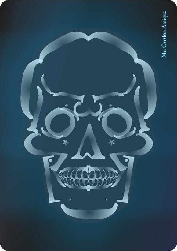 Typography x ray skull