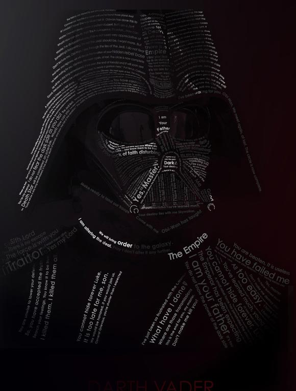 Vader Typography by Etrav689