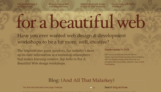 For a Beautiful Web