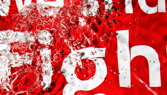 Typography in Water