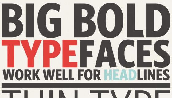 Big Bold Type
