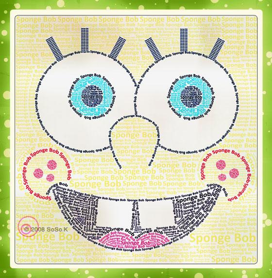 Sponge Bob Typography by SoSo-K
