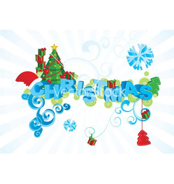 Christmas Typography Vector  by Cherju