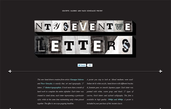 27 Letters by Resistenza
