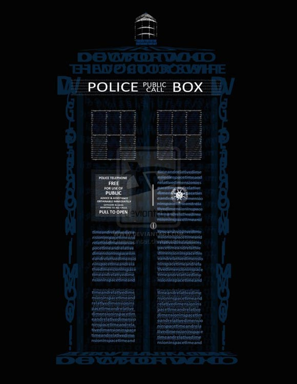 Typography TARDIS by ~QuietSunset