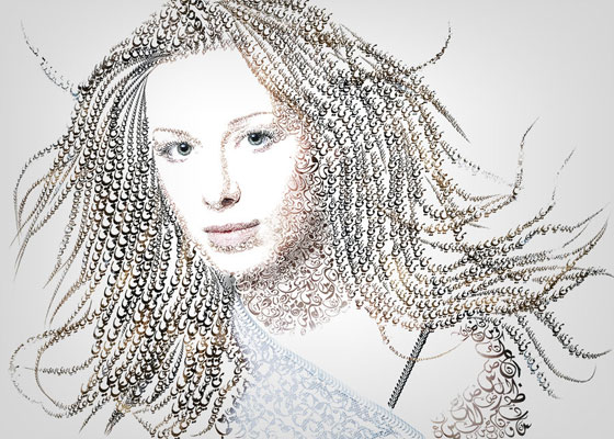 Typography Portrait by Jordansart