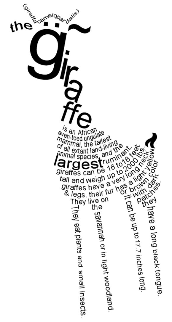 Giraffe By Frozenpandaman Typeinspire