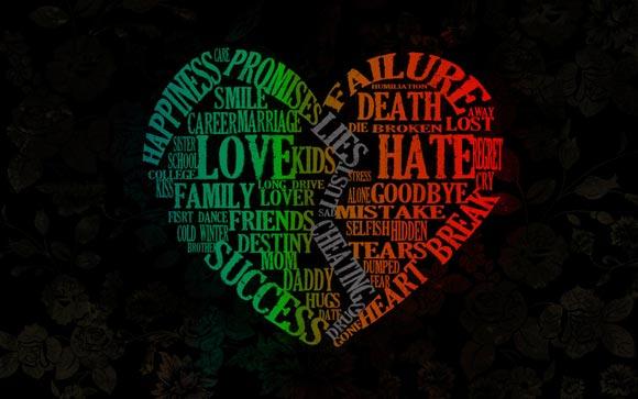 love versus hate by roohat typeinspire